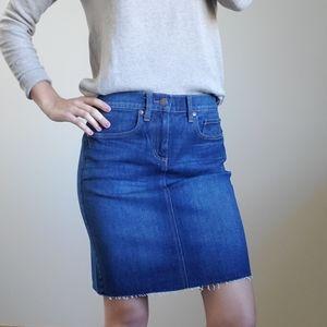 LOFT Blue Denim High Waisted Skirt